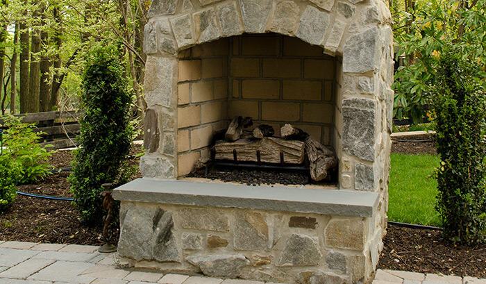Beiler Patio Fireplace